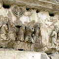 Menorah On The Arch In Roma by Mindy Newman