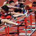 Mens Hurdles 2 by Bob Christopher