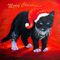 Meow Christmas Kitty by Zina Stromberg
