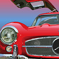Mercedes 300 Sl Gullwing Detail by Alain Jamar