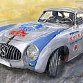 Mercedes Benz 300 Sl 1952 Carrera Panamericana Mexico  by Yuriy Shevchuk