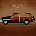 Mercury Station Wagon 1950 by Mark Rogan