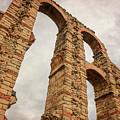 Merida Spain Aqueduct Dusk by Joan Carroll