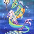 Mermaid And Sea Dragon by Mary Hoy