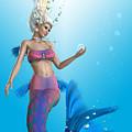 Mermaid In Aqua by Corey Ford