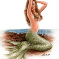 mermaid On The Shore by Bruce Lennon