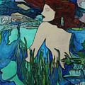 Mermaid  Sleeping by Maxine Miller