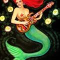 Mermaids Rock Tiki Guitar by Sue Halstenberg