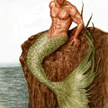 Merman On The Rocks by Bruce Lennon