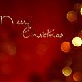 Merry Christmas Card - Bokeh by Aimelle