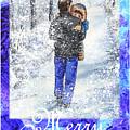 Merry Christmas From Daddy And Son by Irina Sztukowski