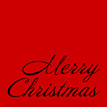 Merry Christmas In Black by Custom Home Fashions