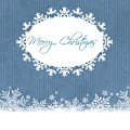 Merry Christmas In Blue by Sharon Johnston