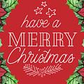 Merry Christmas Poinsettias by Teresa Wilson