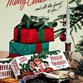 Merry Christmas Vintage Cigarette Advert by R Muirhead Art