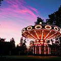 Merry - Go - Round At Sunset by Diana Trutneva