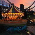 Merry-go-round At Sunset by Eena Bo