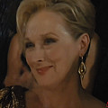Meryl Streep Receiving The Oscar As Margaret Thatcher  by Colette V Hera  Guggenheim