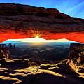 Mesa Arch Sunrise by John Hight