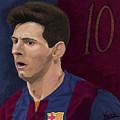 Messi-digital Oil Painting  by Nenad Arsikj