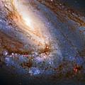 Messier 66 Galaxy Enhanced by Weston Westmoreland