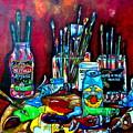 Messy Paints II by Patti Schermerhorn