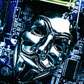 Metal Anonymous Mask On Motherboard by Jorgo Photography - Wall Art Gallery