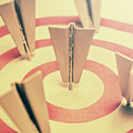 Metal Paper Planes In Target, Business Aims by Jorgo Photography - Wall Art Gallery