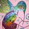 Metallic Hummingbird  by Deborah Evers