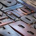 Metallic Letterpress  by Ariadna De Raadt