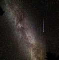 Meteor Burst Across The Milky Way by Adam Robitaille