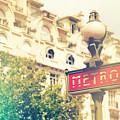 Metro Sign Paris Shabby Chic by Sandra Rugina