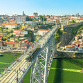 Metro Train Over Porto Bridge by Benny Marty