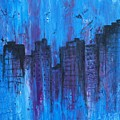 Metropolis In Blue by Emily Page