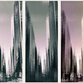 Metropolis Rush Hour Triptych by Jessica Jenney