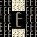 Metropolitan Park Deco 1920s Monogram Letter Initial E by Cecely Bloom