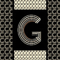 Metropolitan Park Deco 1920s Monogram Letter Initial G by Cecely Bloom