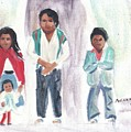 Mexican Church People by Suzanne  Marie Leclair