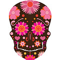 Mexican Skull Art Illustration by Jit Lim
