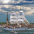 Mexican Tall Ship Cuathtemocl by Jim Beckwith