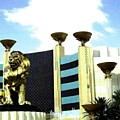 Mgm Lion In Las Vegas by Will Borden