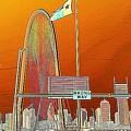 Mhh Bridge Abstract by Diana Mary Sharpton
