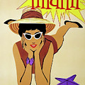 Miami Travel By Braniff Airways  1960 by Daniel Hagerman