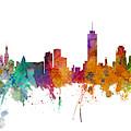Miami And Nashville Skylines Mashup by Michael Tompsett