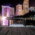 Miami - Bayside Market At Night by Leonardo Vega