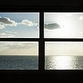 Miami Beach Art Deco Window Over The Ocean by Buena Vista Images