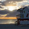 Miami Beach Life Guard House Sunrise 2 by Toby McGuire