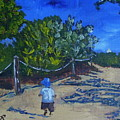 Miami Beach Path And Child by Maria Soto Robbins