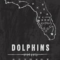Miami Dolphins Art - Nfl Football Wall Print by Damon Gray