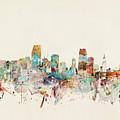 Miami Florida City Skyline by Bri Buckley